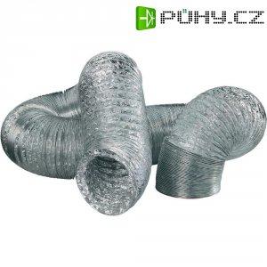 Hliníková fóliová hadice Wallair N55878, 10 m, stříbrná