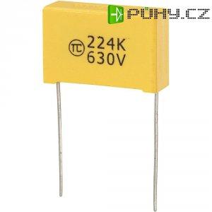 Foliový kondenzátor MKS, 0,22 µF, 630 V, 5 %, 26,5 x 8,5 x 17 mm