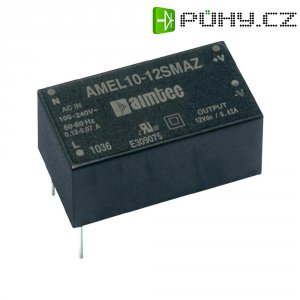 Síťový zdroj do DPS Aimtec AMEL10-3.312DMAZ, 12 VDC, 0.41 A