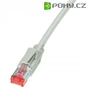 Patch kabel Dätwyler CAT 6 PiMF, 0,5 m, šedá
