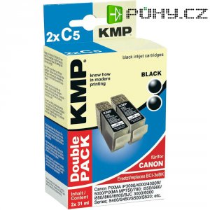 Cartridge KMP C5D, 2x CANON BCI-3, 0957,0021, černá
