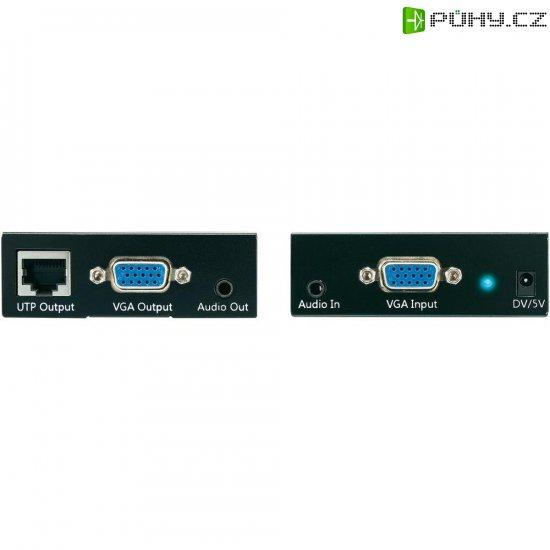 VGA + audio prodloužení přes síťový kabel s funkcí loop, 50 m - Kliknutím na obrázek zavřete