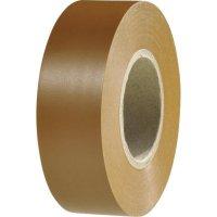 Izolační páska HellermannTyton HelaTapeFlex 1000+, 710-00609, 19 mm x 20 m, hnědá