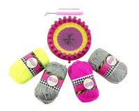 Sada na pletení TEDDIES dětská kroužek s příslušenstvím