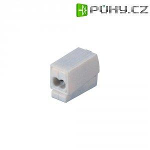 Svorka 2v1 Wago, 224-112, 0,5/1 - 2,5 mm², 3pólová, bílá