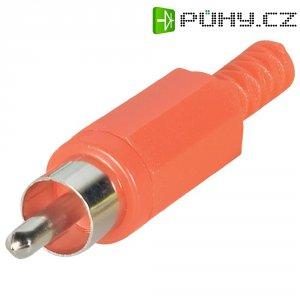 Cinch konektor BKL Electronic 072138/T Pólů: 2, zástrčka, rovná, červená, 1 ks