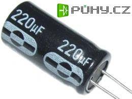 220u/63V 85° 10x20x5mm, elektrolyt.kondenzátor radiální