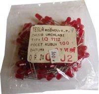 LED 4mm červená difuzní LQ1112, balení 100ks