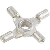 Křížové oko Vogt Verbindungstechnik 3509a4 3509a4, průřez 1 mm², průměr otvoru 4 mm, bez izolace, kov, 1 ks