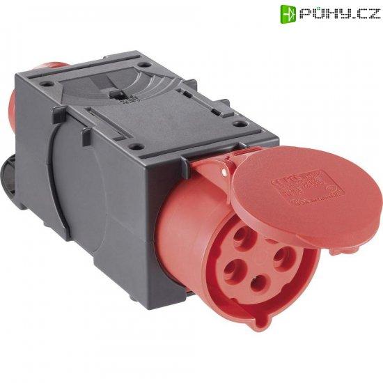CEE adaptér PCE, 9437420, zástrčka 16 A ⇒ zásuvka 32 A, IP44, červená/černá - Kliknutím na obrázek zavřete