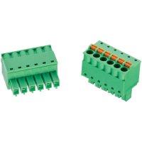 Ukončovací blok Würth Elektronik 691368300007B, AWG 28 - 16, pružinová, zelená
