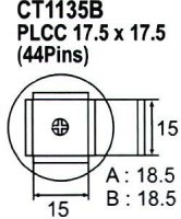 Nástavec na vyfoukávačku PLCC 44pin 15x15mm