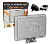 Anténa TV venkovní panelová LEDA DVB-T se zesilovačem, zisk 28-33dB