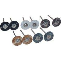 10-dílná sada kulatých kartáčů TOOLCRAFT 816523, Ø dříku 2,35 mm