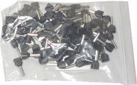 Dutinka pro dva kabely 1,5mm2 černá (TE1,5-8), balení 100ks