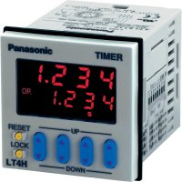 Časové relé multifunkční Panasonic LT4H24J, 12 V/DC, 24 V/DC, 5 A, 11pólová patice, 1 přepínací kontakt, 1 ks