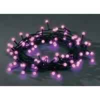 Venkovní vánoční řetěz Konstsmide, fialový, 80 LED