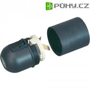 Objímka pro žárovku s kolébkovým spínačem E27 GAO 0714, 230 V, černá
