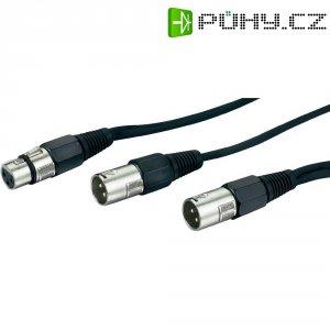 Dvojitý kabel 2x XLR (M) / 1x XLR (F), 0,6 m