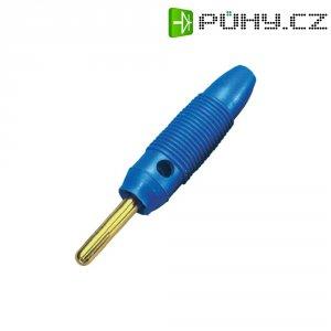 Banánkový konektor 4 mm, BKL Electronic 072153/G, pozlacený, modrá