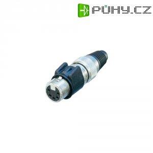 XLR kabelová zásuvka Neutrik NC5FX-HD, rovná, 5pól., 3,5 - 8 mm, IP65, stříbrná