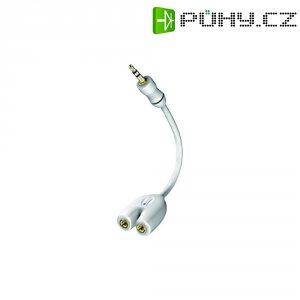 Kabel vidlice 3,5 mm ⇒ 2x zásuvka 3,5 mm, 0,1 mm, bílý, Inakustik