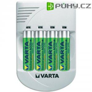 Nabíječka s USB Varta + 4x AA NiMH 2500 mAh