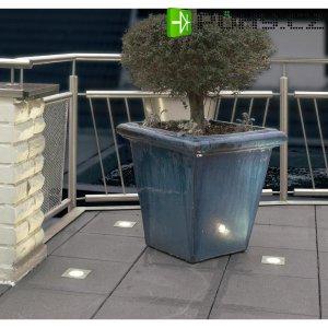 Vestavné halogenové svítidlo SLV Nautic Round 227457, max. 35 W, stříbrná