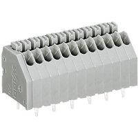 Pájecí svorkovnice série 250 WAGO 250-408, AWG 24-20, 0,4 - 0,8 mm², 2,5 mm, 2 A, šedá
