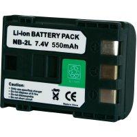 Li-Ion akumulátor pro videokameru CANON NP-2L, 7,2 V, 550 mAh, černá