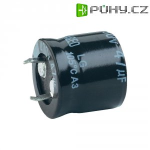 Snap In kondenzátor elektrolytický, 220 µF, 400 V, 20 %, 40 x 30 mm