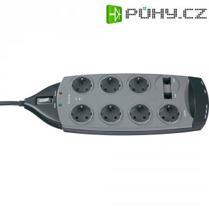 Zásuvková lišta s profesionální přepěťovou ochranou Belkin SurgeMaster F9G726DE3M-GRY, 3 m, antracitová, 7 zásuvek