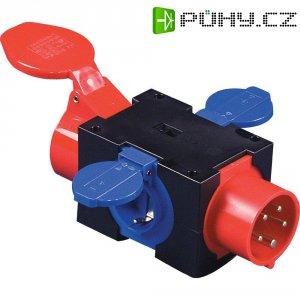 CEE rozbočovač PCE, 943.0412, zástrčka 16 A ⇒ 3x schuko zásuvka, 400 V, IP44