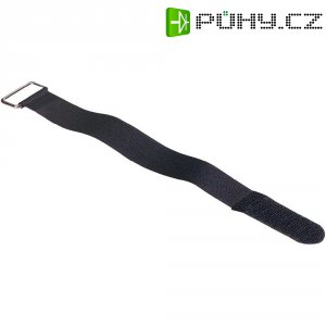 Stahovací pásky na kabely 371238, sada 5 kusů černá