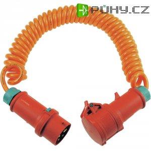 Prodlužovací spirálový CEE kabel AS Schwabe, 5 m, oranžová, červená