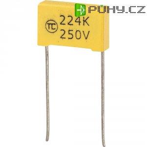 Foliový kondenzátor MKS, 0,22 µF, 250 V, 5 %, 18 x 5 x 11 mm