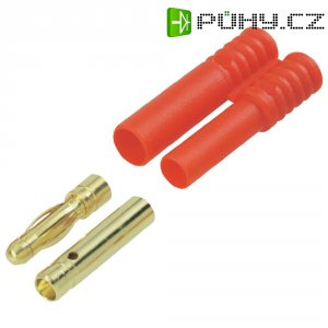 Kontakt k pájení 4 mm Modelcraft, zástrčka a zásuvka, zlatý