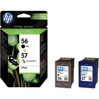 Cartridge do tiskárny HP SA342AE, HP 56, 57, černá, cyanová, magenta, žlutá