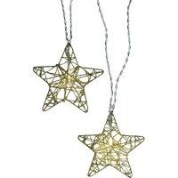 Vánoční řetěz s hvězdami Polarlite, 10 LED, 2,7 m