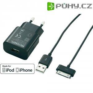USB nabíječka s kabelem pro iPod, iPhone Voltcraft SPS-1000i, 1 A