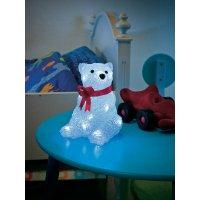 Akrylátový LED lední medvěd