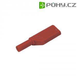 Bezpečnostní zástrčka SKS Hirschmann LAS S G (934099101), rovná, Ø 4 mm, 1,5 mm², červená