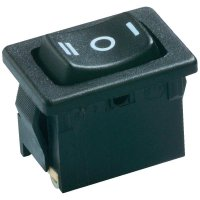 Kolébkový spínač Marquardt 1808.0111, 1x zap/vyp/zap, 250 V/AC, 6 A, černá