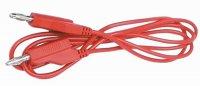 Měřící šnura 10A SBL-80R červená 0,8m