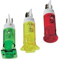 Signálka LED Signal Cons, SKGH10222, 12 V/DC / 12 V/AC, pouzdro PC bar./průh., zelená