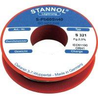 Cínová pájka, Pb60Sn40, Ø 2 mm, 500 g, Stannol S321