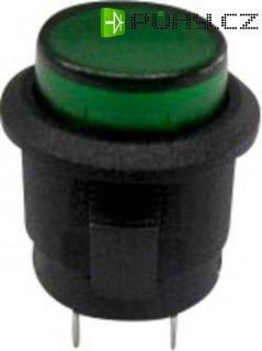 Tlačítko SCI, R13-523AL-05GN, 250 V/AC, 1,5 A, vyp./(zap.), černá/zelená