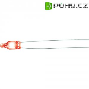 Doutnavka, 1,5 mA, ultra svítivá, 230 V, 4 x 10 mm, orientální červená