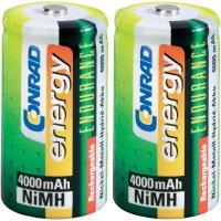 Akumulátor Conrad energy Endurance, NiMH, C, 4000 mAh,2 ks