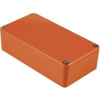 Univerzální pouzdro hliníkové Hammond Electronics 1590BBOR, (d x š x v) 118,5 x 93,5 x 34 mm, oranžová